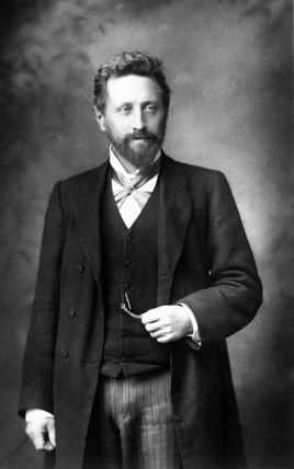 William Ayrton, British engineer, c 1890.