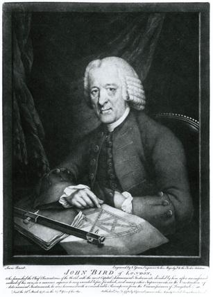 John Bird, British mathematical instrument maker, 1770s.