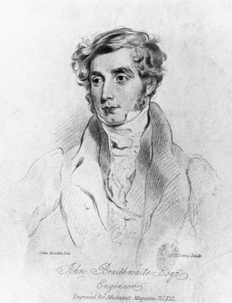 John Braithwaite, British engineer, c 1830.