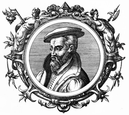 Georgius Agricola, German minerologist and metallurgist, mid 16th century.