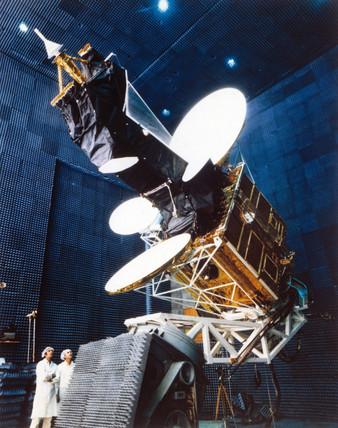 Intelsat 5 communications satellite, 1980.