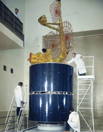 Intelsat IVA communications satellite, 1975.