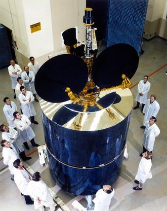 Intelsat IVA communications satellite, 1975.