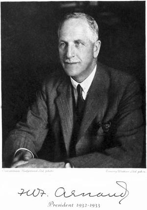 Francis W F Arnaud, 1933.