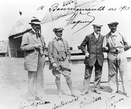 Edmond Audemars, Swis aviator, aeronautics meeting, Dorset, 1910.