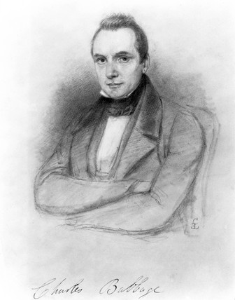 Charles Babbage, British mathematician and computing pioneer, 1841.