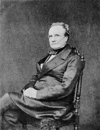 Charles Babbage, computing pioneer, 1860.