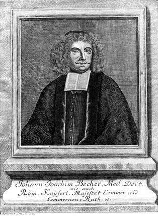 Johann Joachim Becher, German physician and chemist, c 1670s.