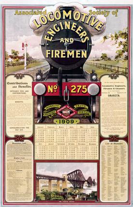 ASLEF calendar, 1909.