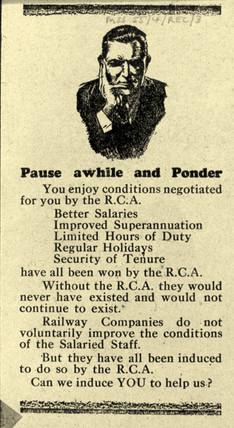 Railway Clerks Asociation recruitment
