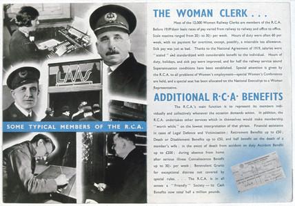 Railway Clerks Asociation recruitment advertisement c 1920.
