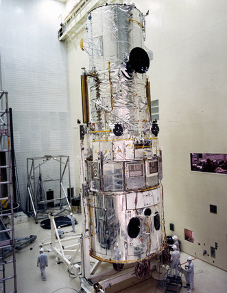 Completed Hubble Space Telescope, 1980s.