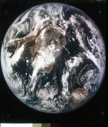 The Earth from space, late 1960s.