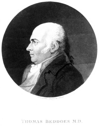 Thomas Beddoes, English physician and chemist, c 1808.