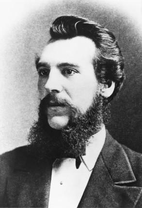Alexander Graham Bell, Scottish-born American inventor, 1880.