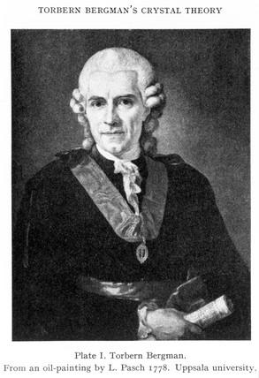 Torbern Bergman, Swedish chemist and physicist, 1778.