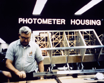 Photometer housing for the Hubble Telescope, 1980s.