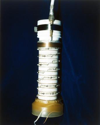 Digicom tube of spectrometer for the Hubble telescope, 1980s.