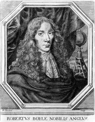 Robert Boyle, Irish physicist and chemist, c 1660s.
