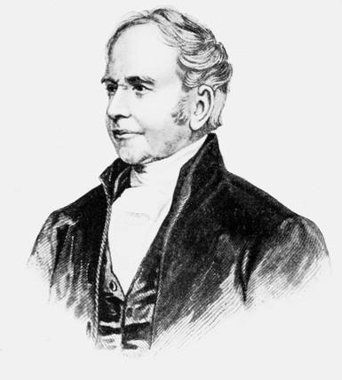 George Bradshaw, British originator of railway guides, c 1850s.