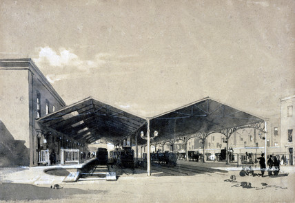 Euston Station interior, London, May 1837.