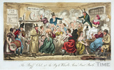 The Buff Club at the Pig and Whistle, Avon Street, Bath. 1825