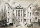 Ralph Allen's Town House, Bath. Artist's impression of view in 1740 c.1858