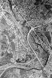 1990 Aerial view of the approved route the Batheaston Bypass and A36 link road 22 Nov