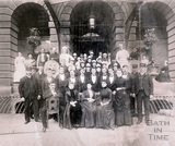Staff outside the Grand Pump Room Hotel c.1887