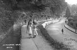 Children playing beside the brook at Lyncombe Vale c.1921 - detail