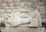 Plaster cast of stone angel from Saxon Church, Bradford on Avon 1875