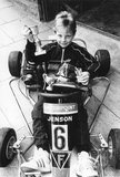A young Jenson Button kart star aged 8, 20 May 1988