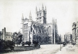 Bath Abbey from the Orange Grove, Bath 1869
