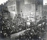 Laying the foundation stone to the Victoria Art Gallery and Reference Library, Bridge Street 18th October 1897
