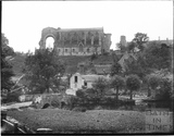 Malmesbury Abbey, viewed from the river behind c.1935