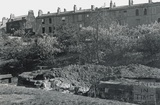 View of Sydney Buildings across the Kennet and Avon Canal, showing bomb damage, Bath 1942