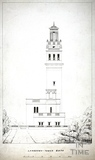 Lansdown Tower, West Front, Beckford's Tower, Lansdown, Bath 1828