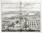 Shipton Moyne, the Seat of Walter Estcourt Esq. by Johannes Kip 1712