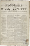 The front page of the earliest known surviving copy of the Bath Chronicle as we know it 1760