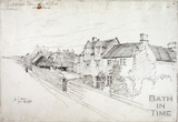 View of Farm Buildings above Bathford Churchyard June 29th 1872