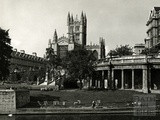 Parade Gardens and Bath Abbey c.1960?