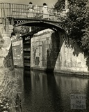 Iron footbridge over the Kennet and Avon Canal, Widcombe, Bath 1953