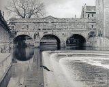 Pulteney Bridge and weir, pre 1973
