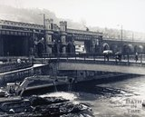 The footbridge by Churchill Bridge, pre 1973