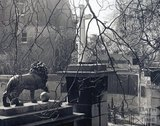 Lions at the entrance to Victoria Park, overlooking the war memorial, pre 1973