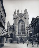 Bath Abbey from the west, pre 1973