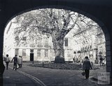 Autumn sunshine, looking through the newly constructed arch to Abbey Green, c.1980s