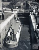 The re-opening of the Kennet and Avon Canal's Lower Widcombe locks, Bath pre-1973