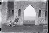 A lovely portrait of the photographer and his wife at Sham Castle, c.1920