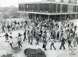 Students at Bath University at the Start of One World Week October 26th 1983
